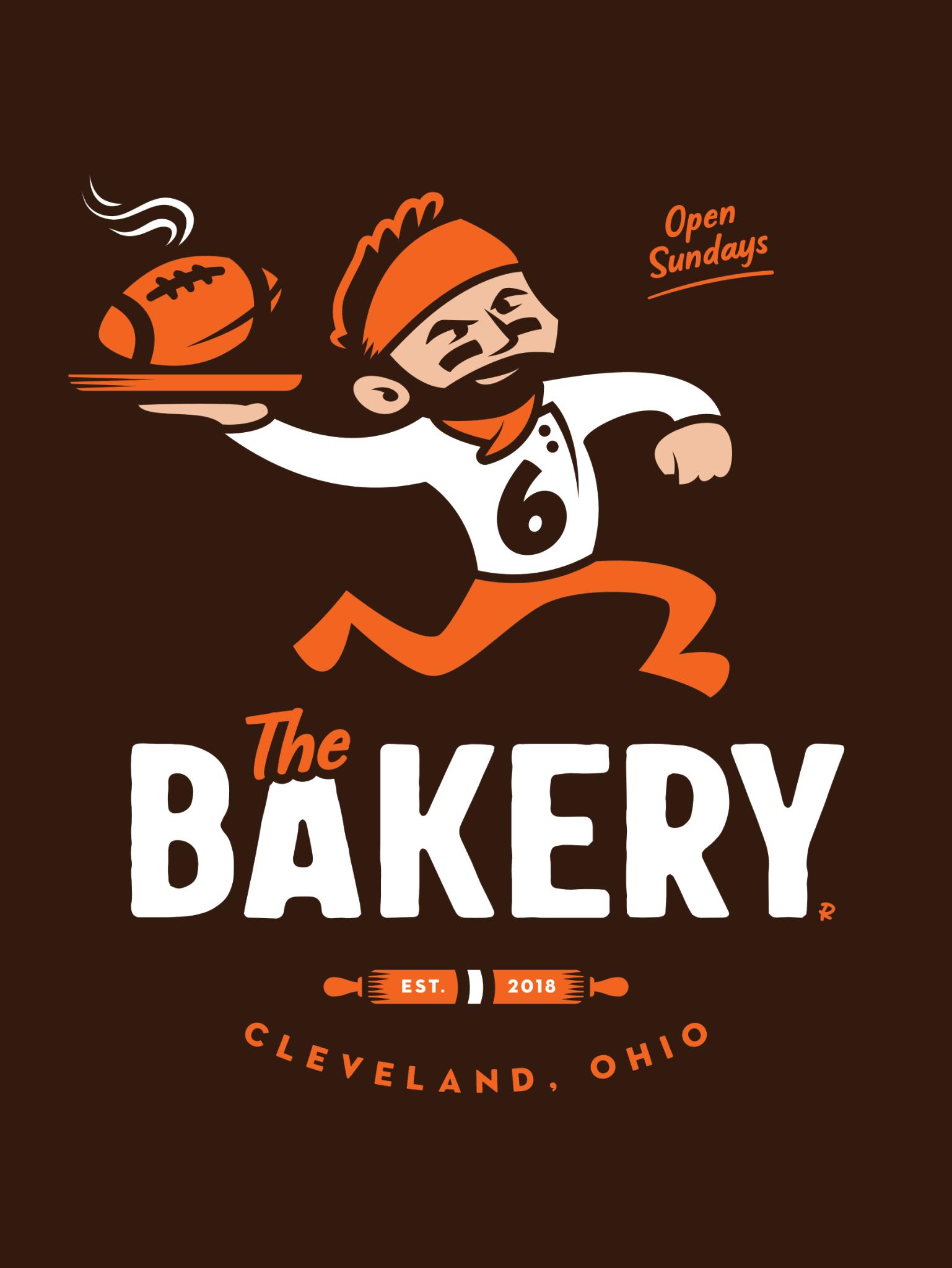 Baker Mayfield Artwork The Bakery Illustration Art Design Logo Cleveland Browns