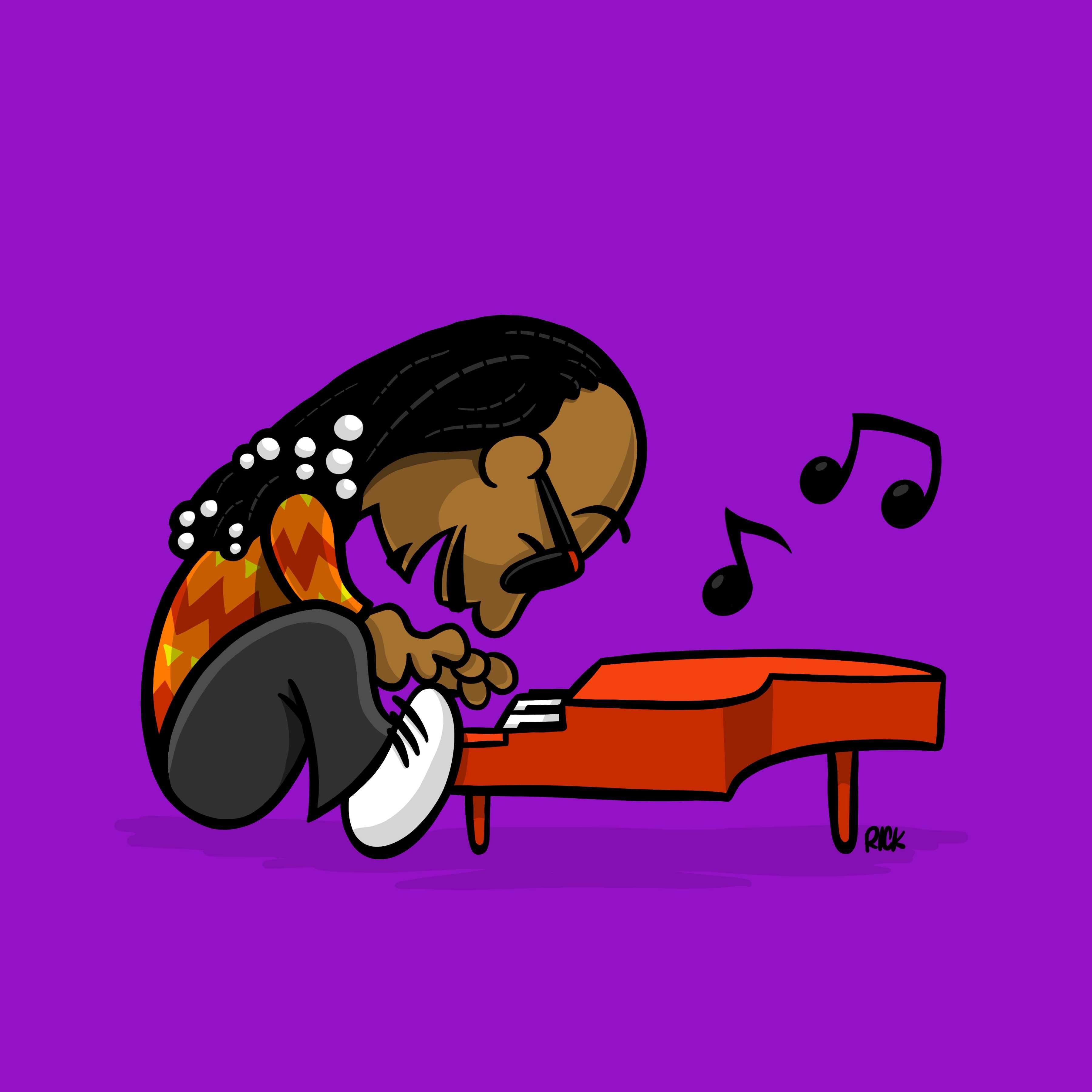 Stevie Wonder Schroeder Peanuts Fan Art Illustration Cartoon