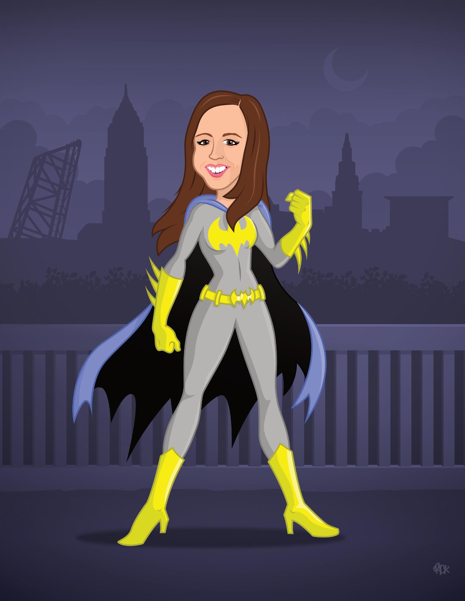 Batgirl Custom Caricature Toon