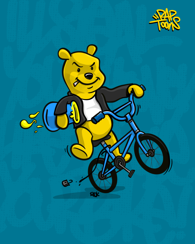 Rap Toons MCA Beastie Boys Lyrics Winnie the Pooh stealing a bike