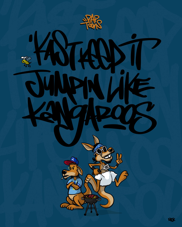 Rap Toons Outkast Raekwon Skew it on the Bar-B Lyrics Artwork Graffiti Fanart Cartoon