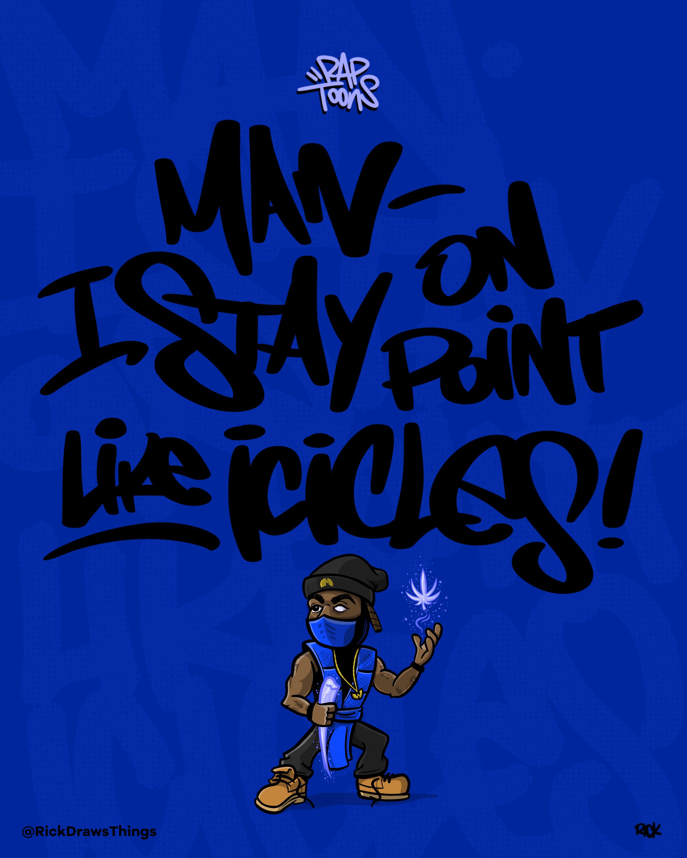 Method Man from Wu-Tang Clan and Sub-Zero from Mortal Kombat hip hop lyrics rap fan art piece