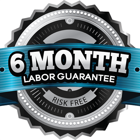 6 Month Labor Guarantee on your HVAC services