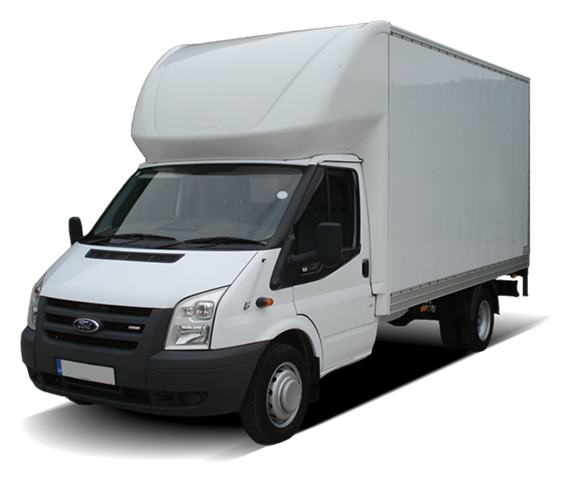 luton box van with tail lift for hire