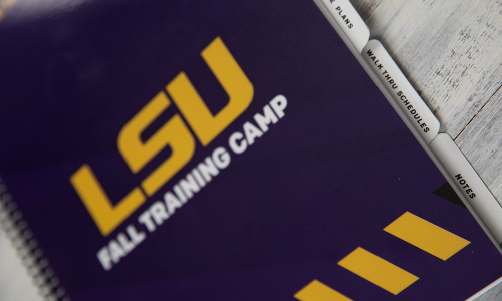 Small Format LSU Fall Training Camp Brochure