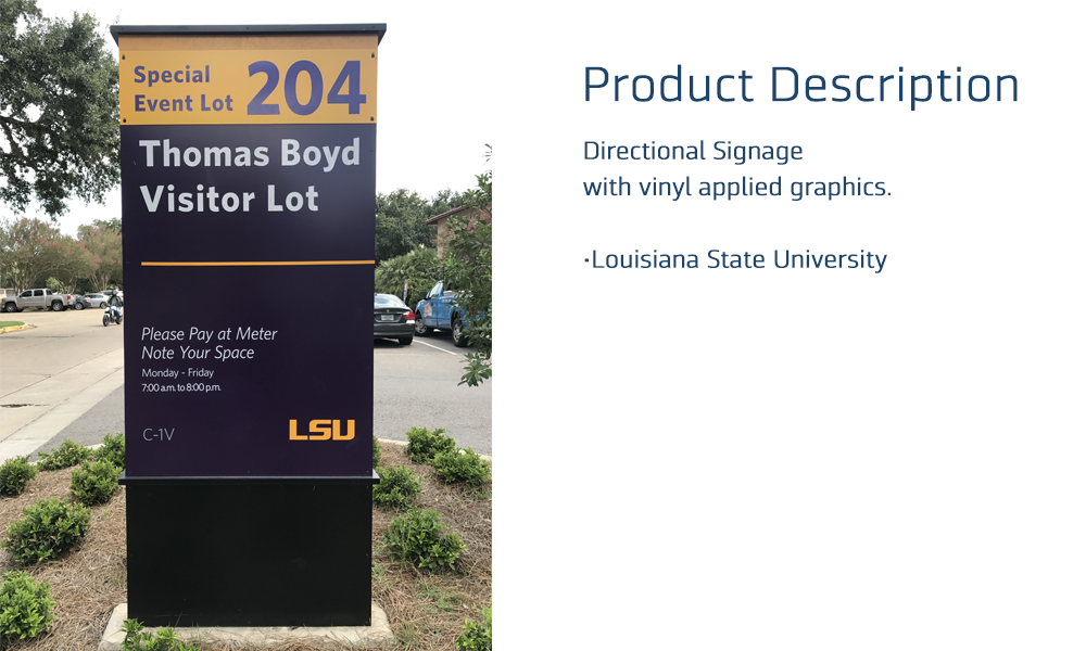 Signage LSU Pylon