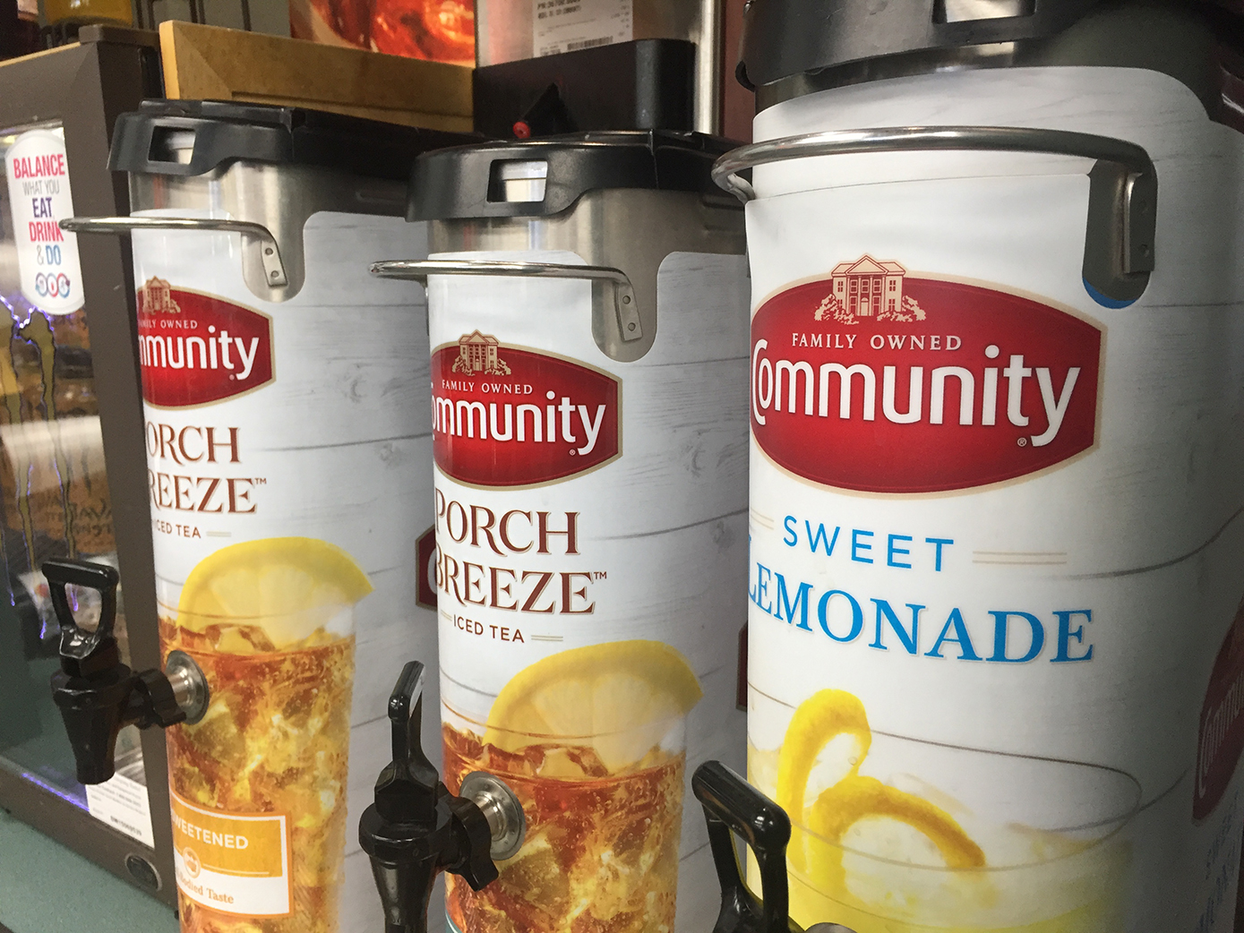 POINT OF PURCHASE Community Coffee Ice Tea Wraps