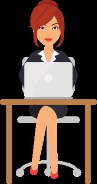 Avatar AnaMa pracující na počítači