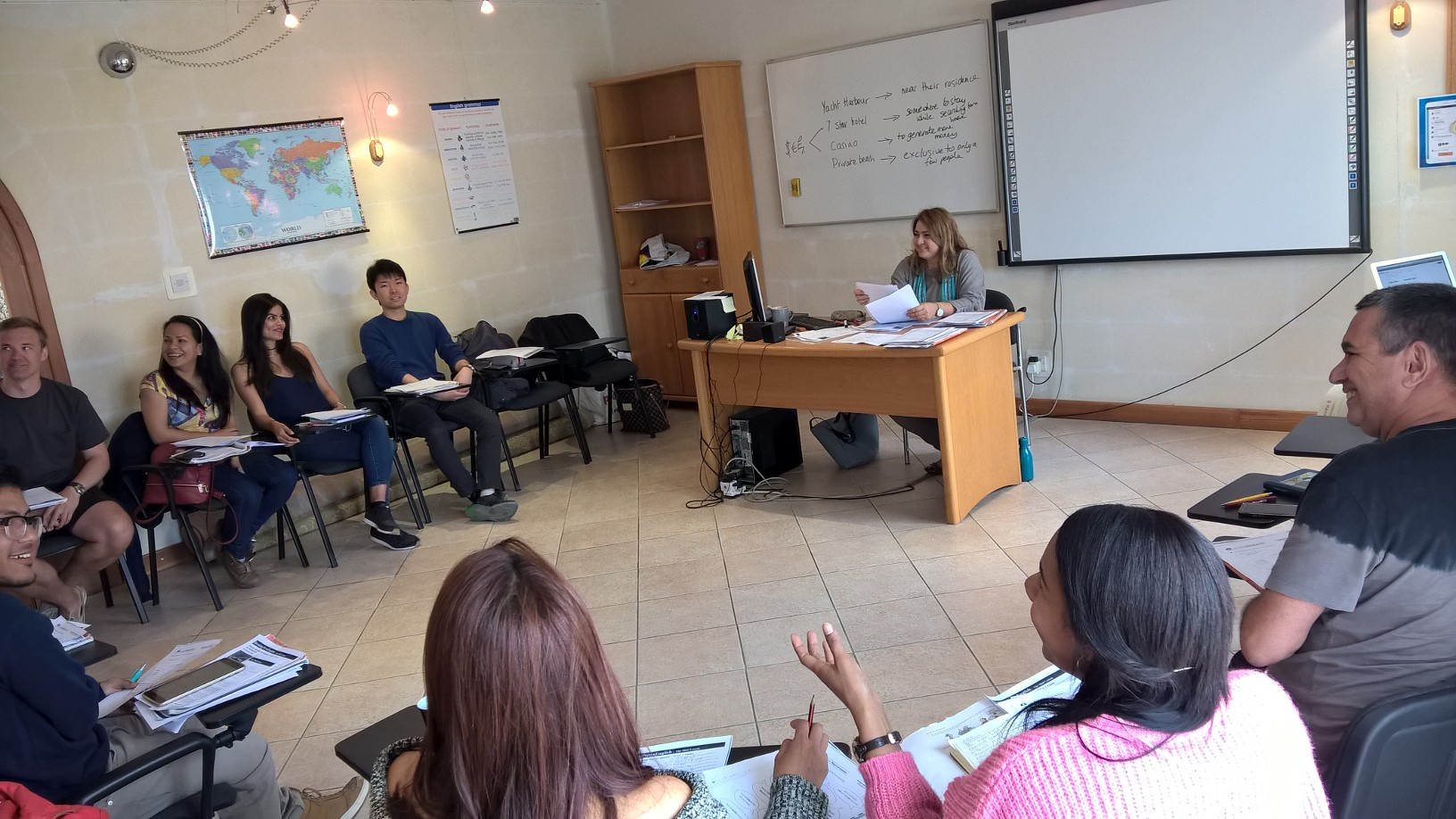 Studenti při výuce, GSE