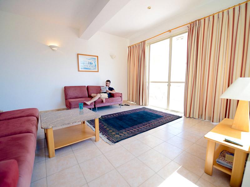Obývací pokoj školního apartmánu