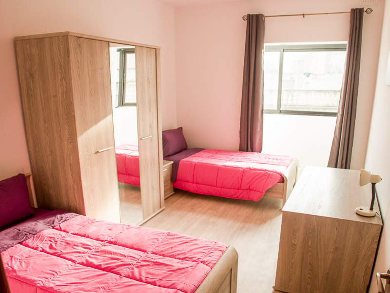 Sdílený pokoj ve školním apartmánu