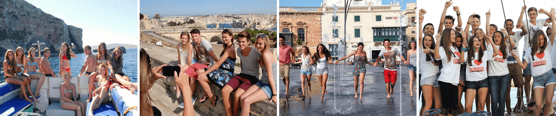 Studenti Sprachcaffe Malta při aktivitách