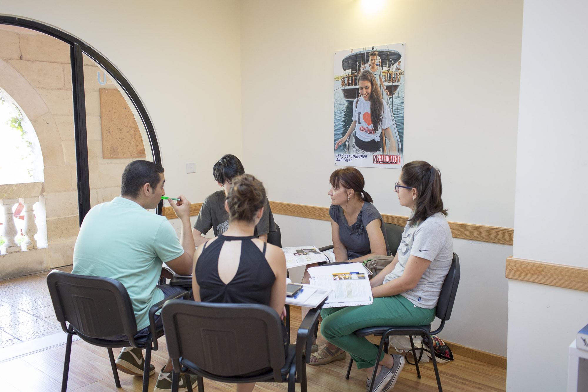 Výuka v Sprachcaffe Malta