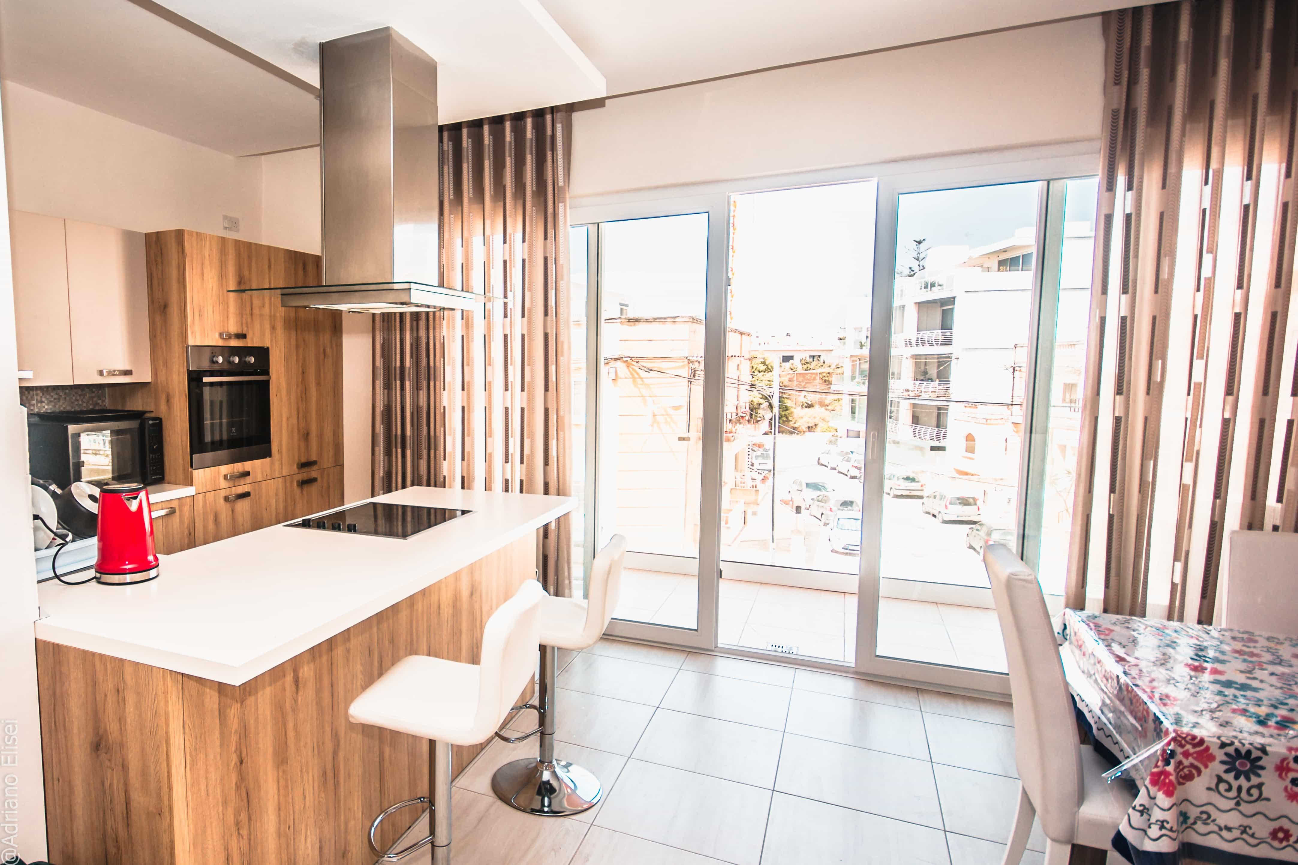 Kuchyně v apartmánu Atlas Malta.