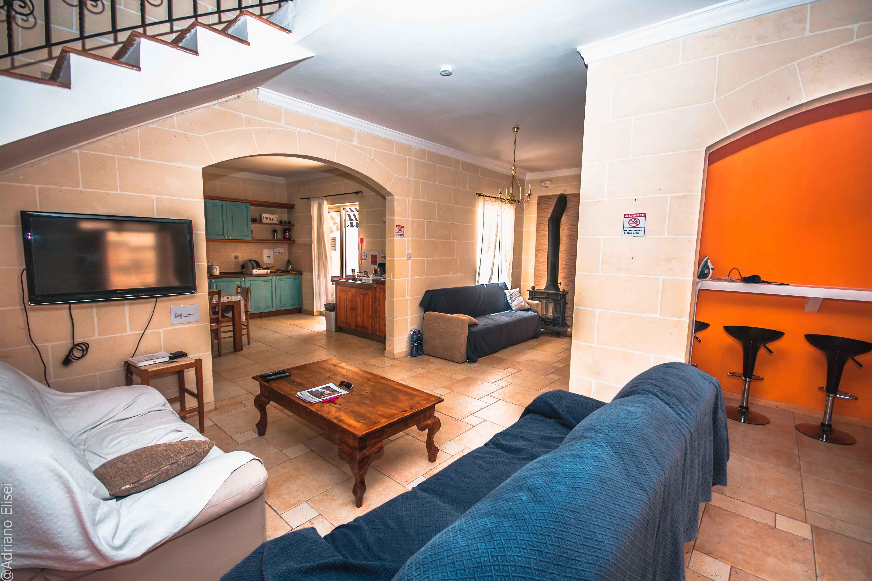 Obývací prostory v rezidenci Kappara na Maltě