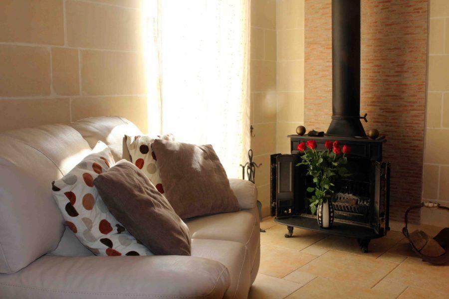 Obývací pokoj v rezidenci Kappara Atlas Malta