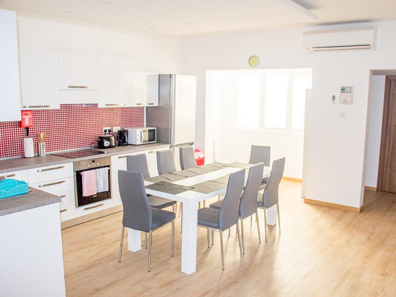 Kuchyně v apartmánu Maltalingua