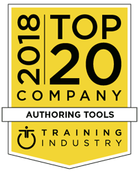 Training Industry Top eLearning Authoring Tool Company Award 2018