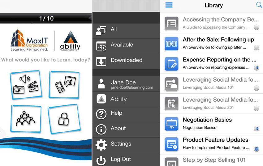 Branded eLearning Mobile App