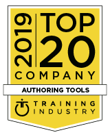 Training Industry Top eLearning Authoring Tool Company Award 2019