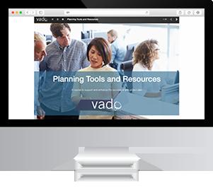 Computer showing Vado Course