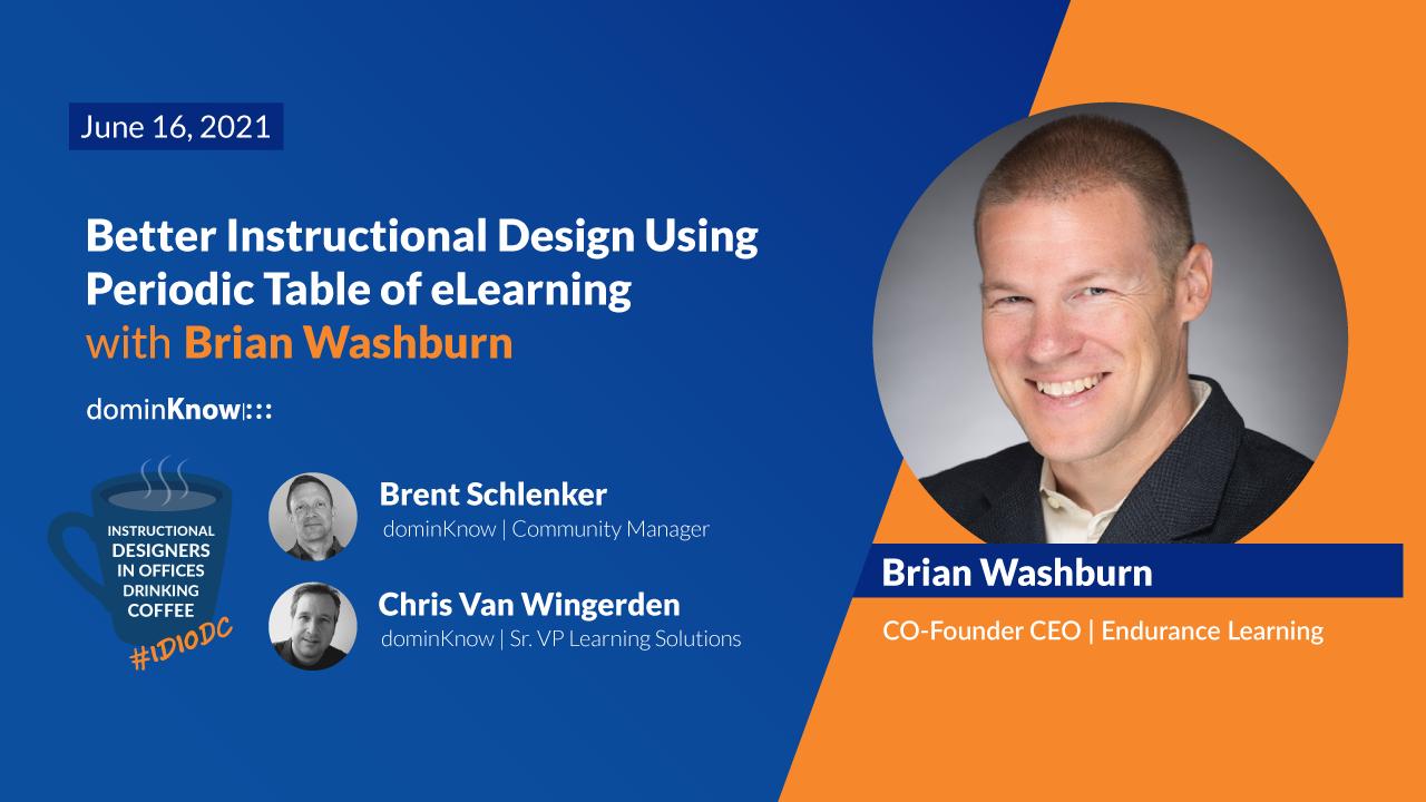 On June 16 Brian Washburn joins IDIODC