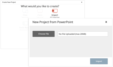 Upload a PowerPoint modal