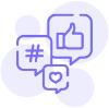 social media strategie icoon