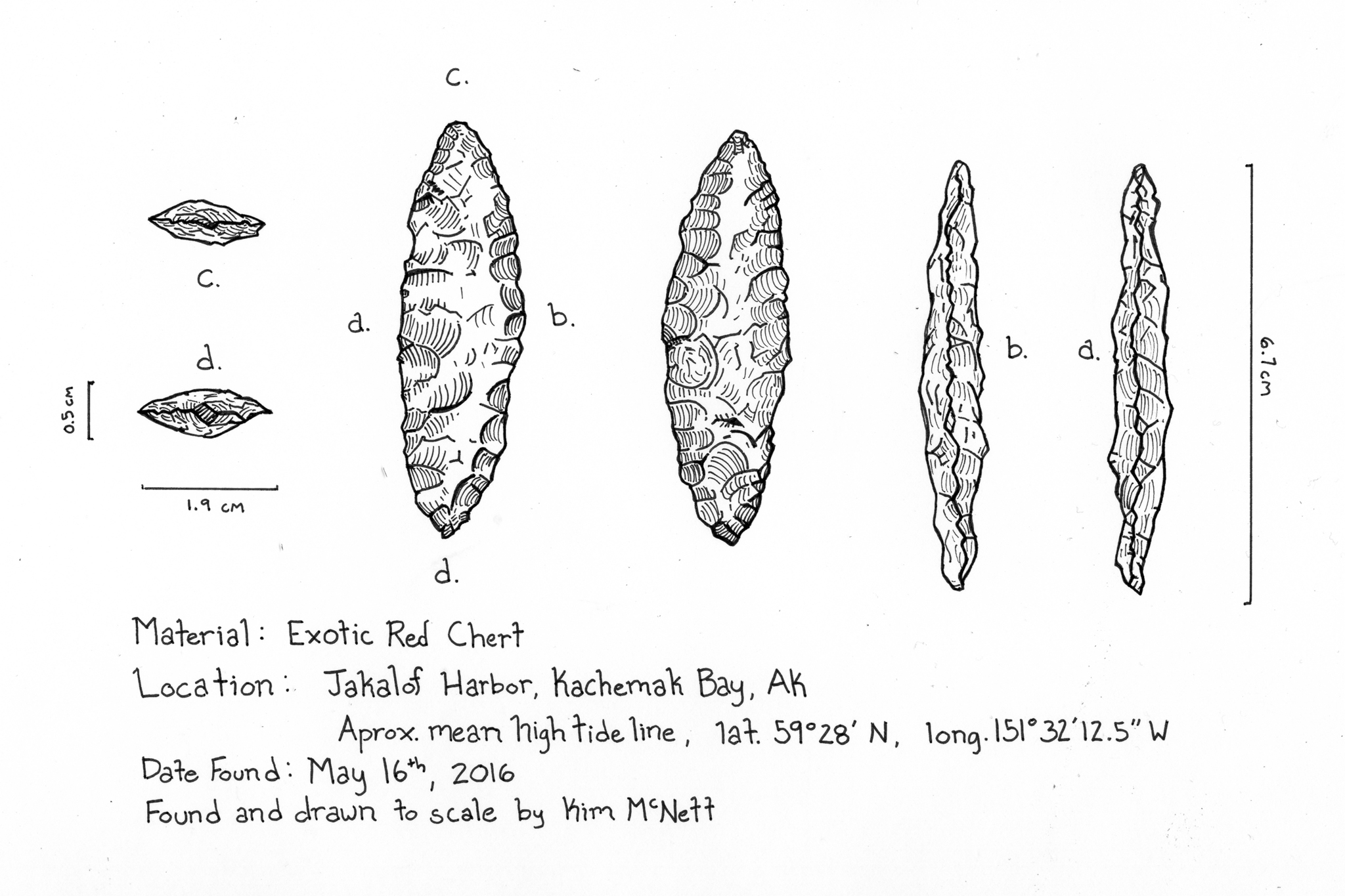 Chert artifact drawing