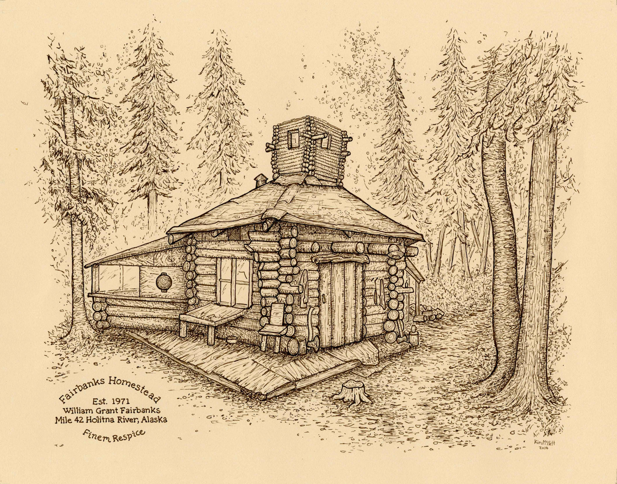 Homestead drawing