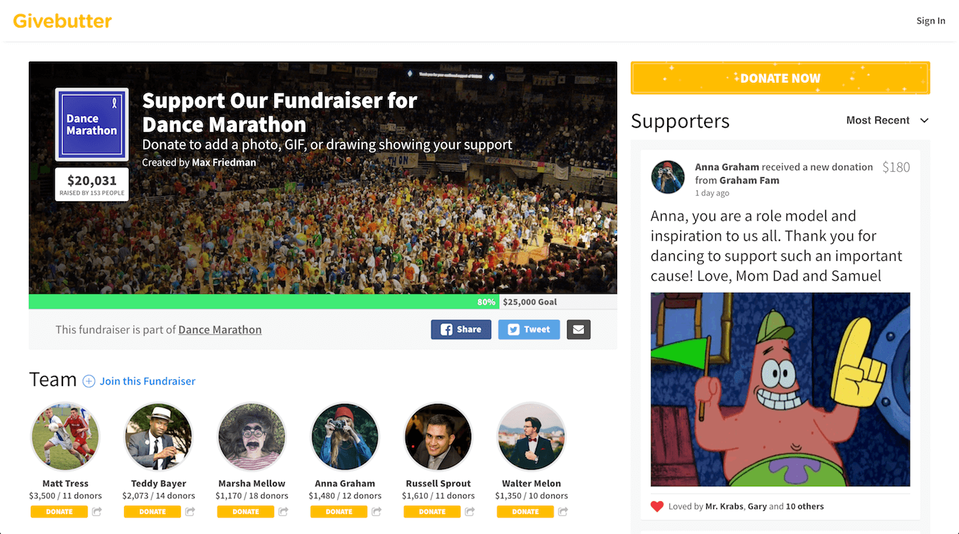 Events Product Screenshot