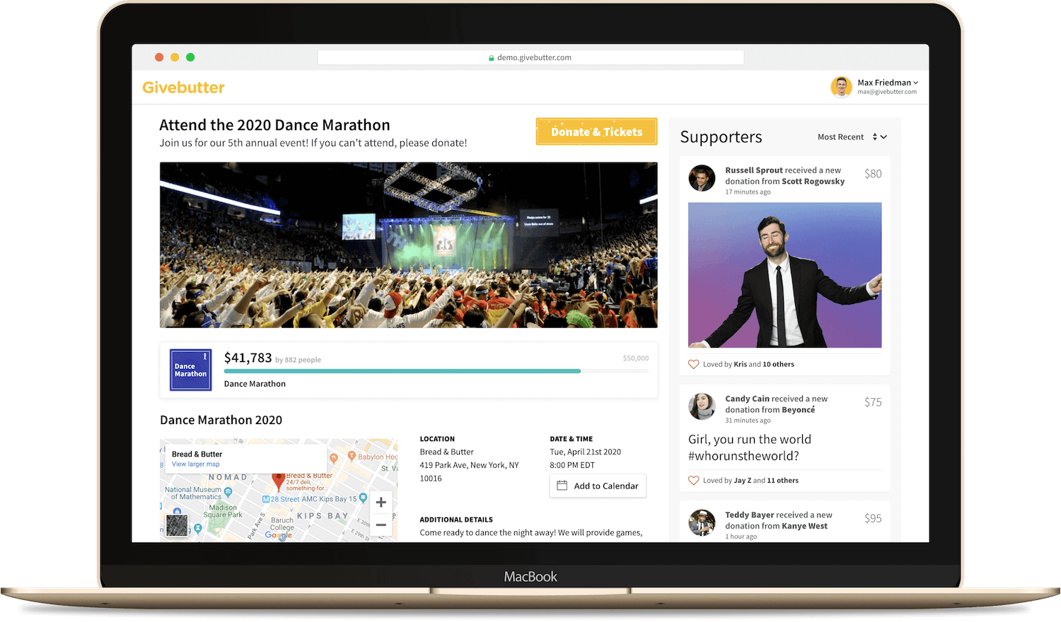 Events Product Demo