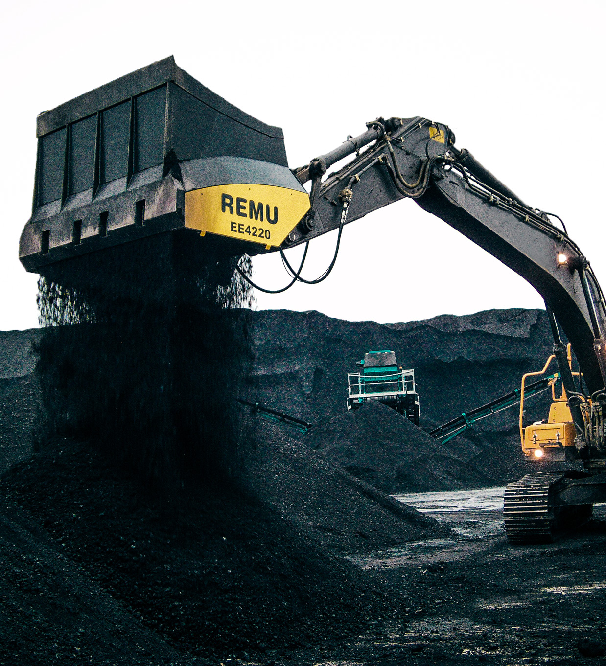 Coal Processing with aggressive blades REMU
