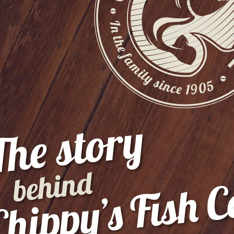 Branding and graphic design for Chippy's Fish Cafe in Butler