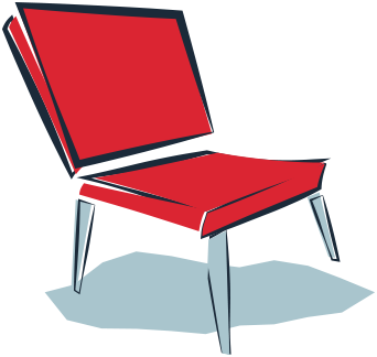 Graphic design illustration of chair