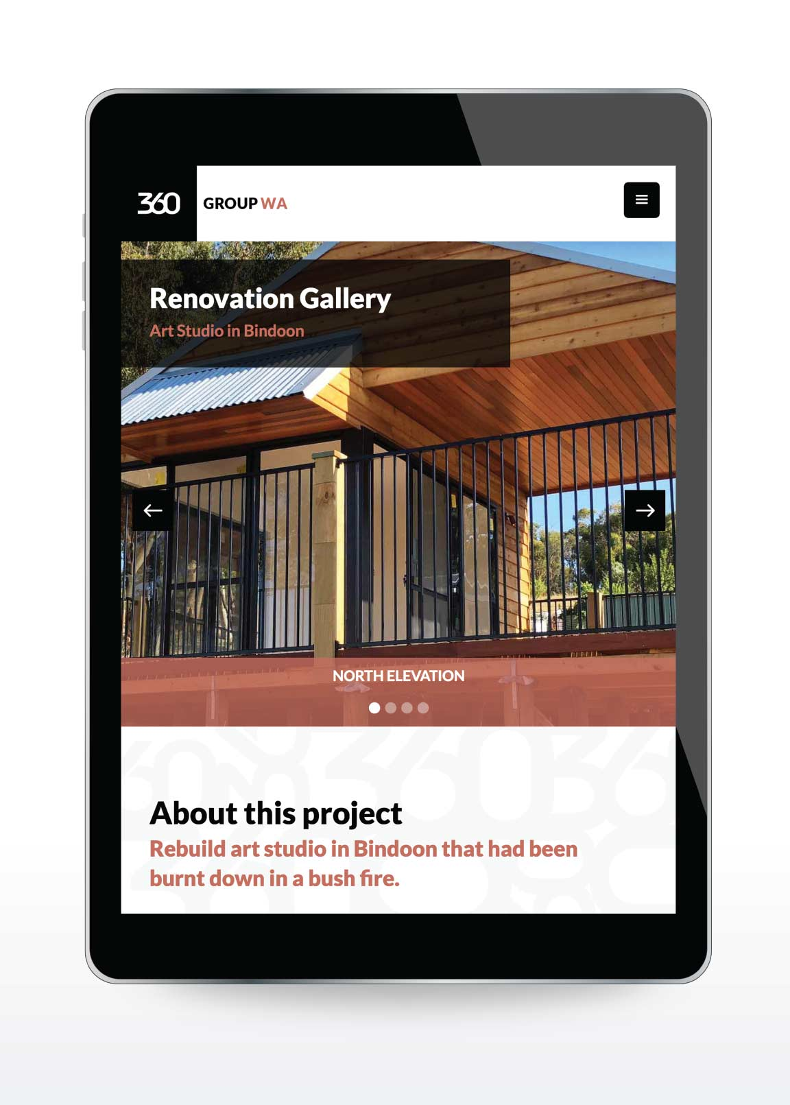 Website design image for 360 Group WA in Perth