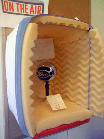 DIY eLearning Audio Recording Booth