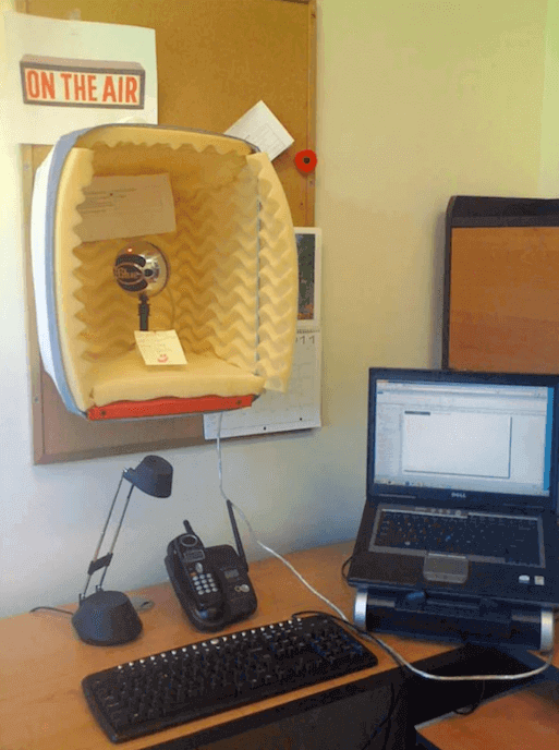 DIY Recording Basket Booth for eLearning