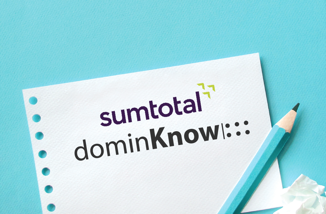 Sumtotal and dominKnow partner banner