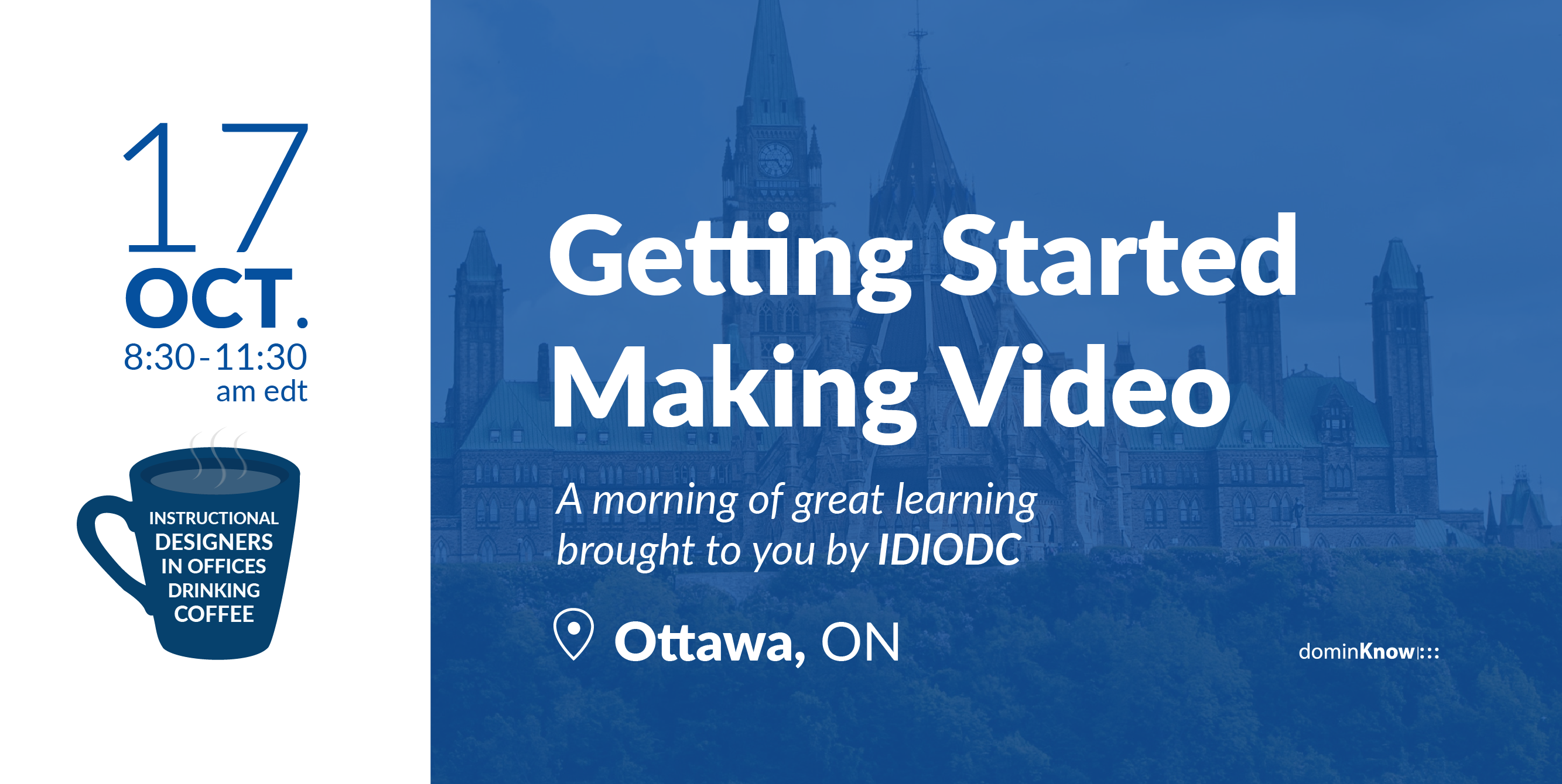 IDIODC hosts it's second Ottawa meetup event, this time around video production for eLearning.