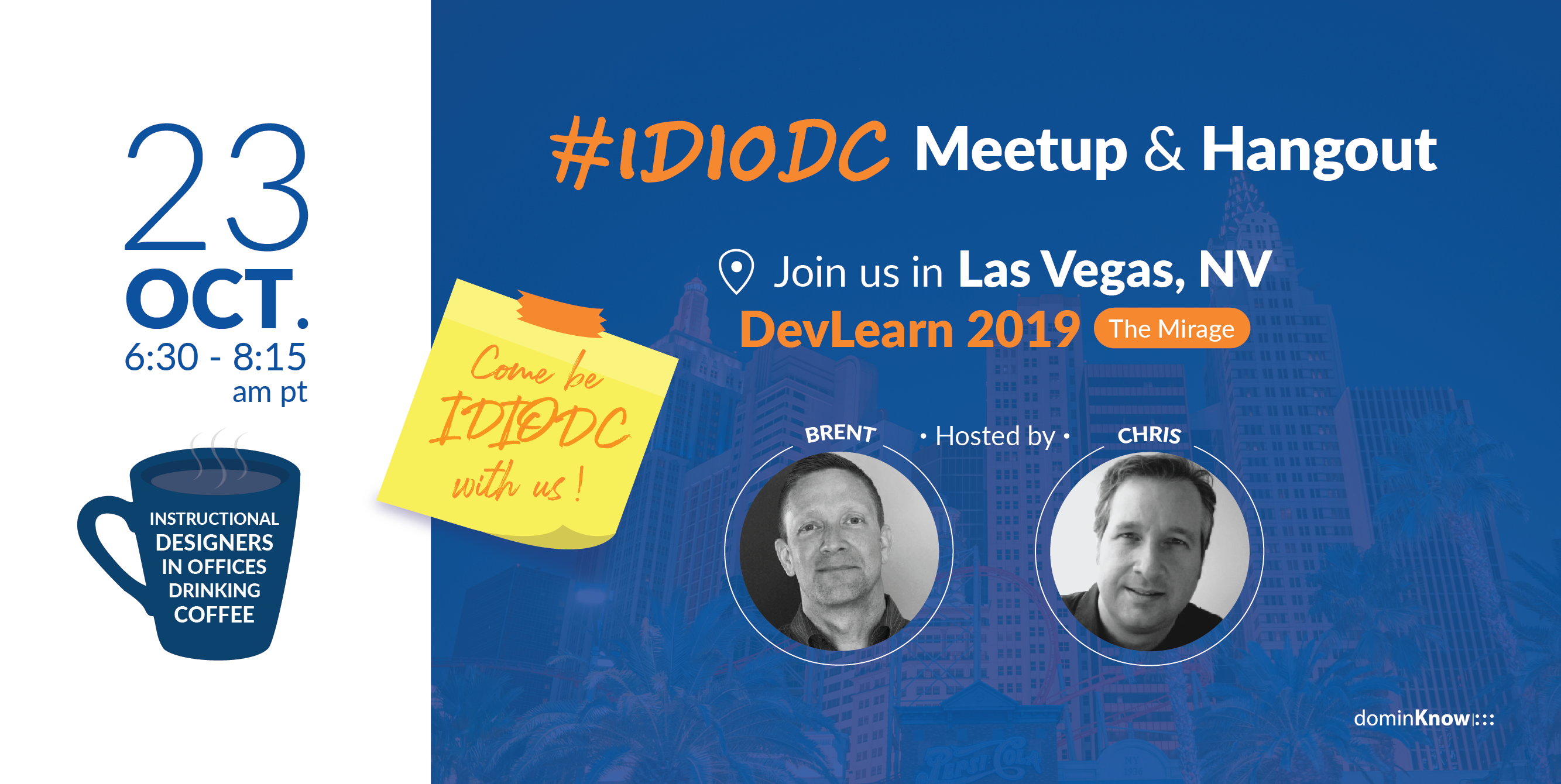 IDIODC goes live from The eLearning Guild's conference and expo in Las Vegas - DevLearn.