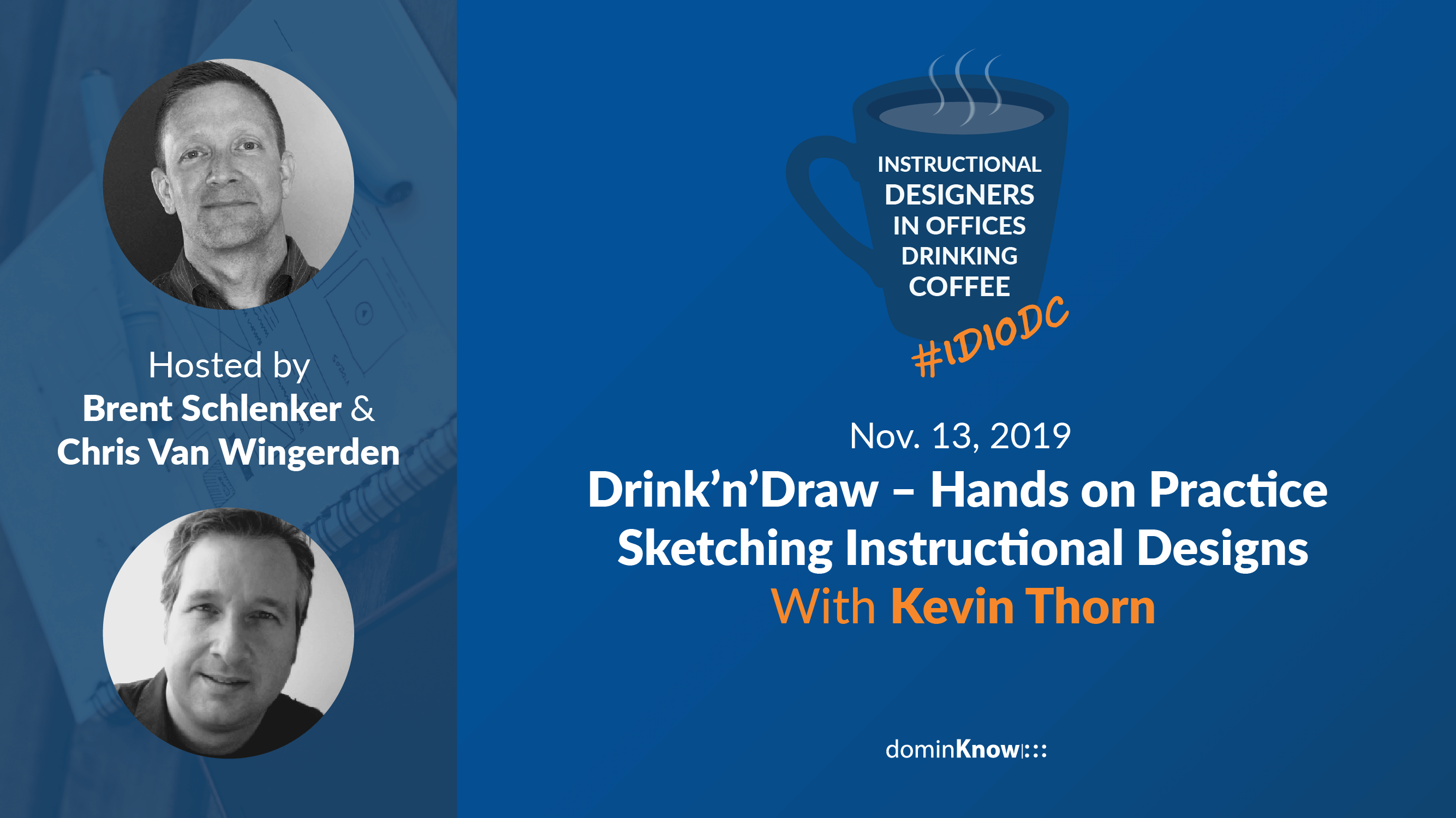 Kevin Thorn joins another episode of IDIODC live learning cast to chat about drawing instructional comics.