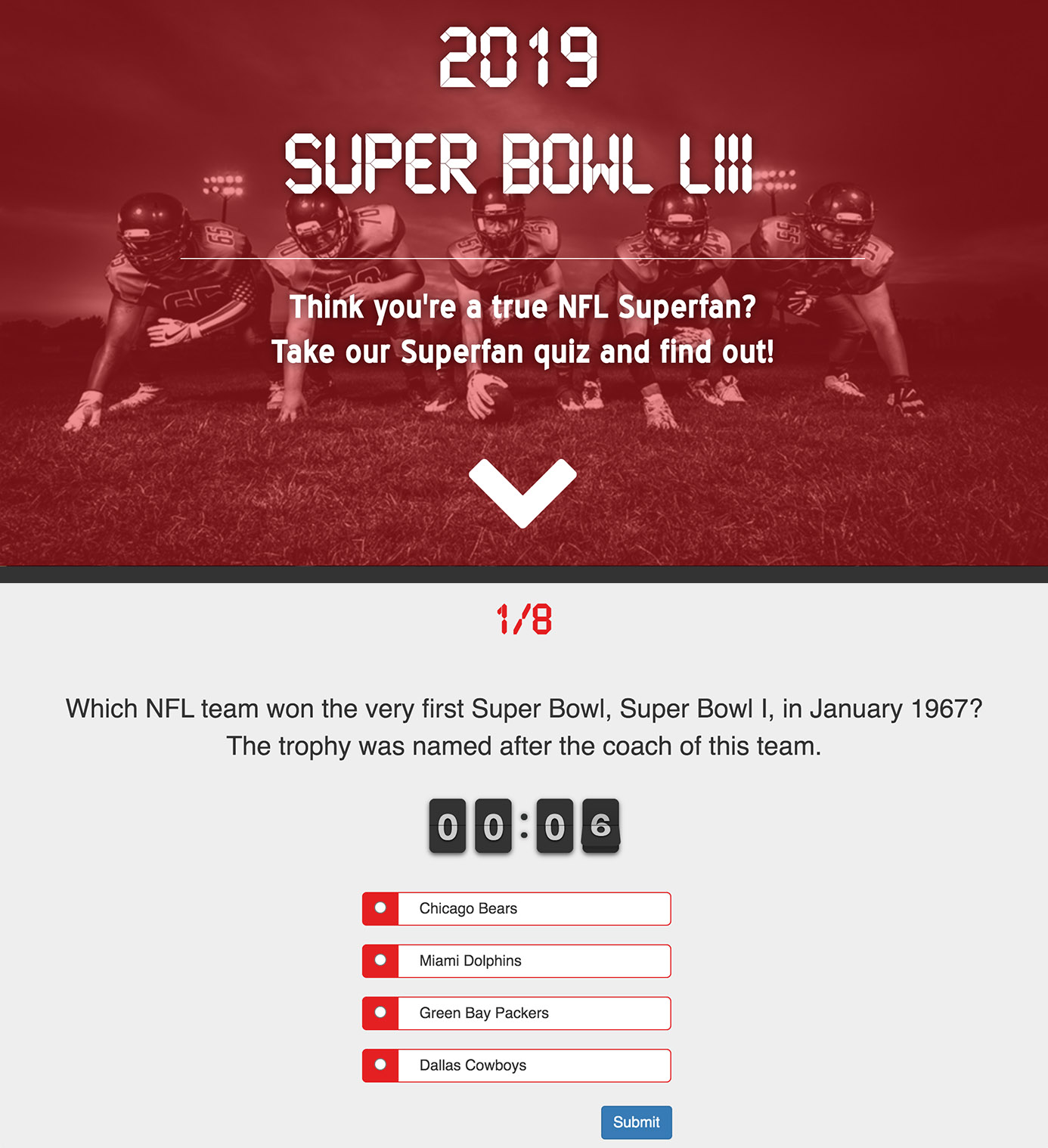 Super Bowl Screenshots