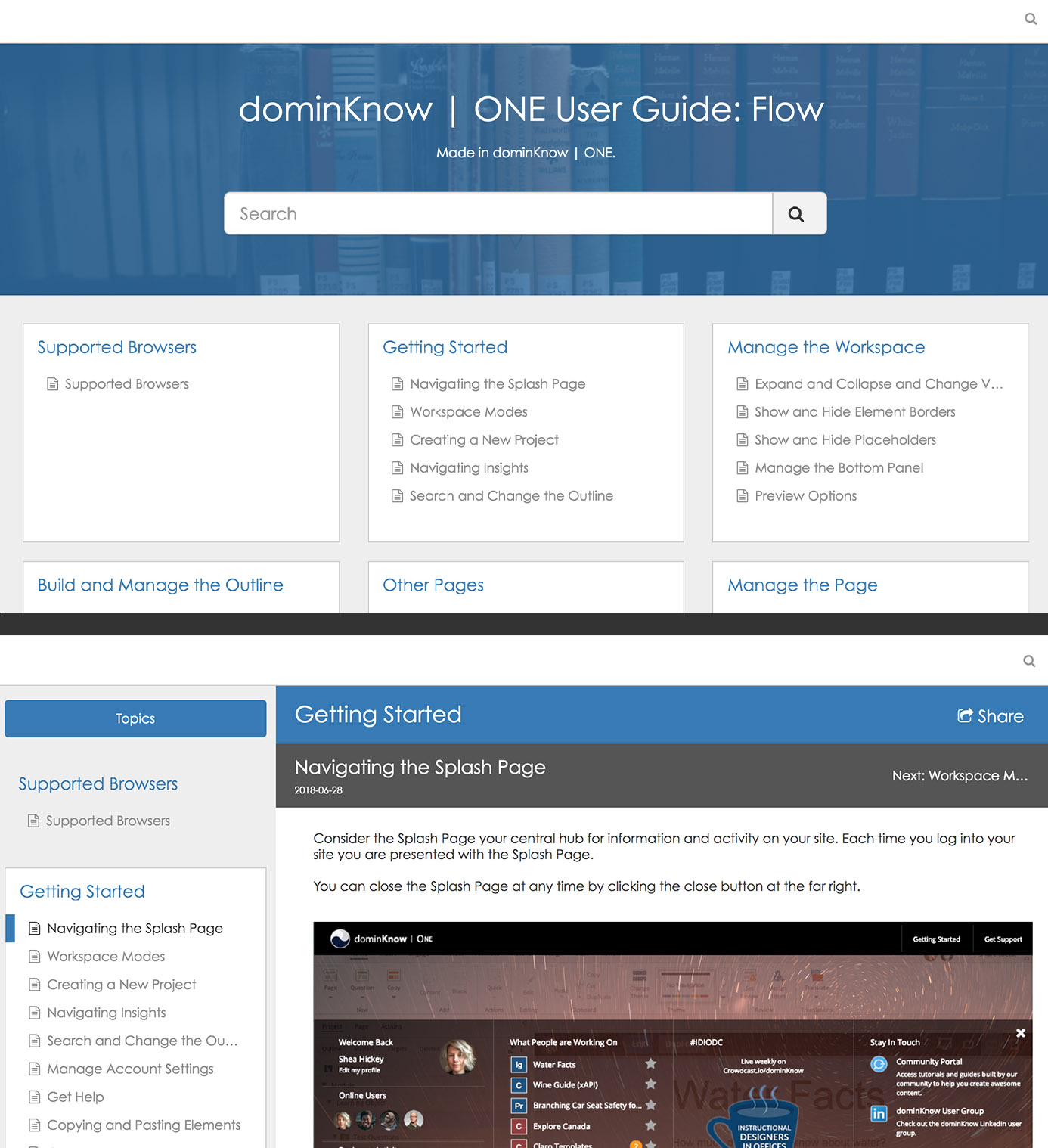 Knowledge Base Screenshots