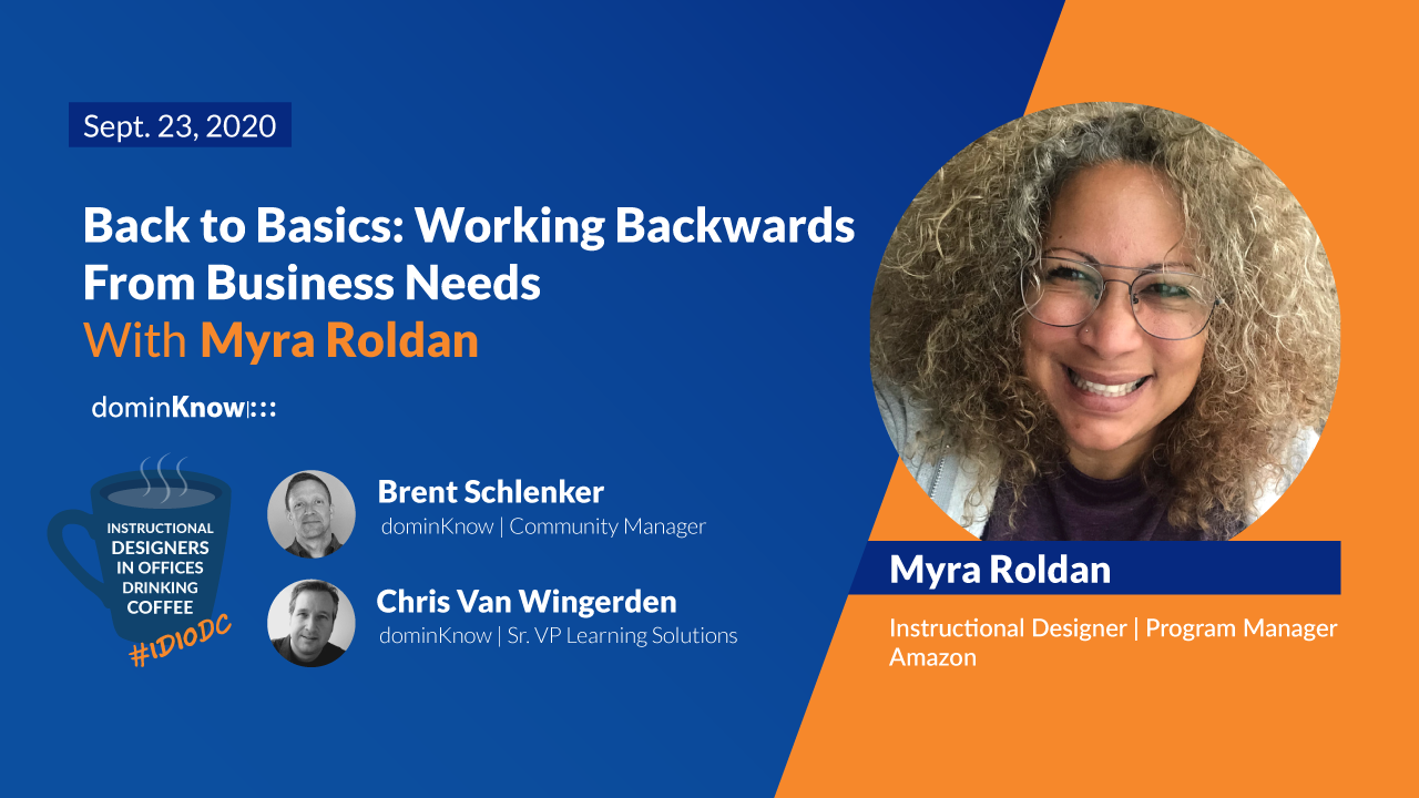 "This week we talked with Myra Roldan about a practical ""Back to Basics"" approach to Learning & Development."