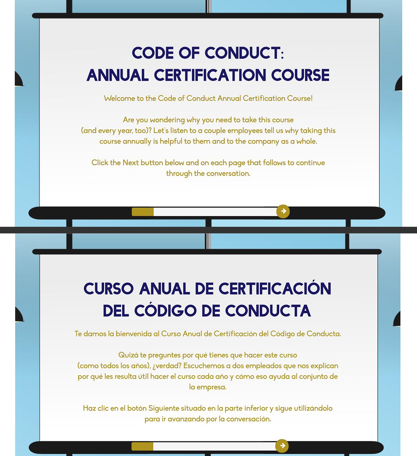 Code of Conduct Translation Screenshots