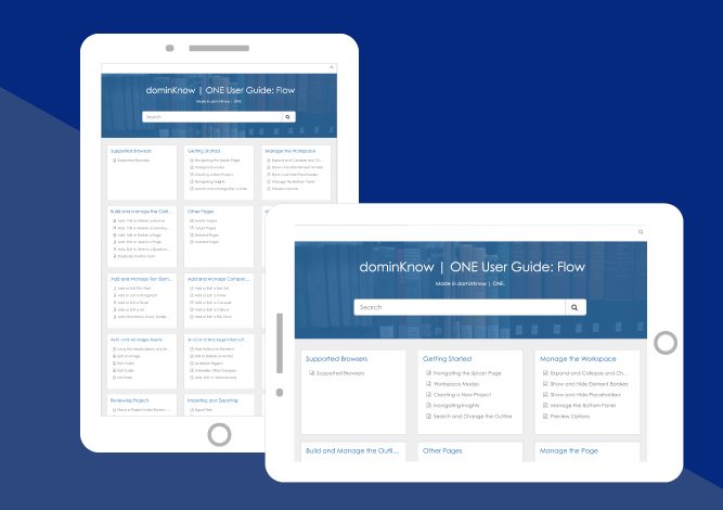 Searchable Knowledge base mobile learning example