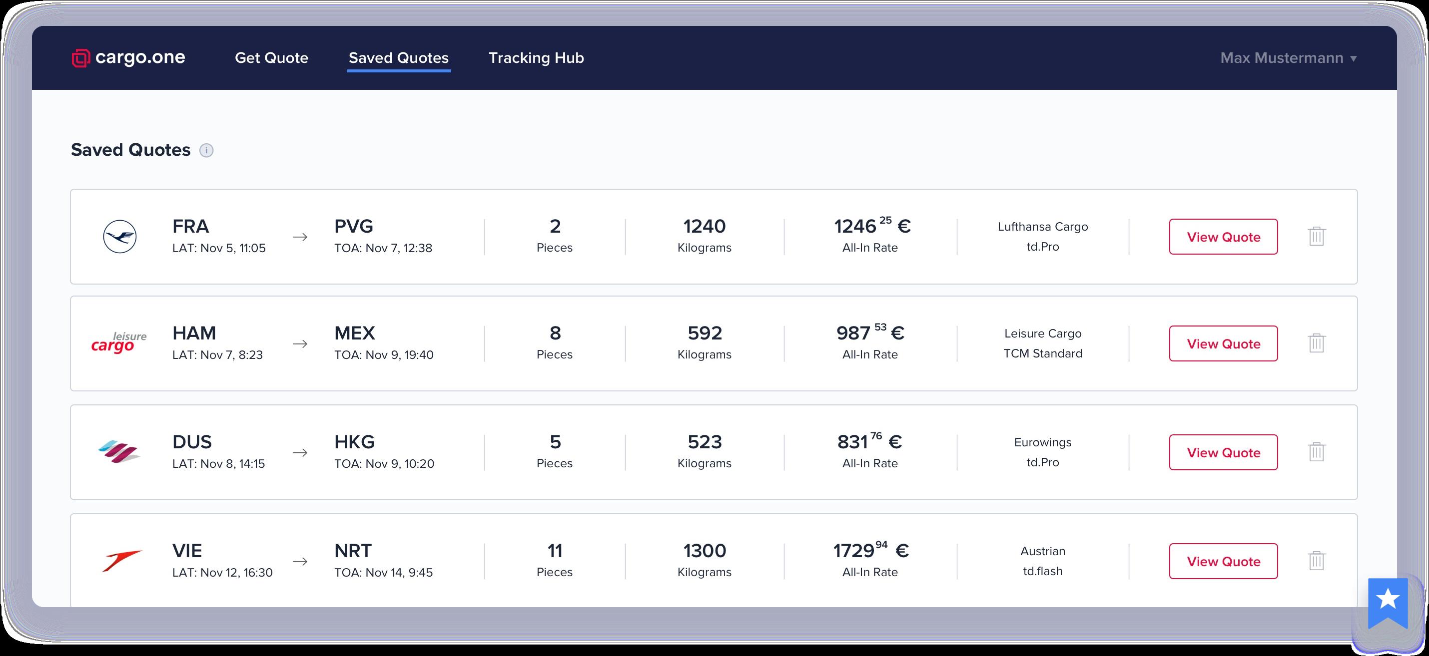 cargo one – Smarter air cargo booking