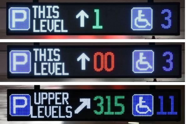 car spaces signage