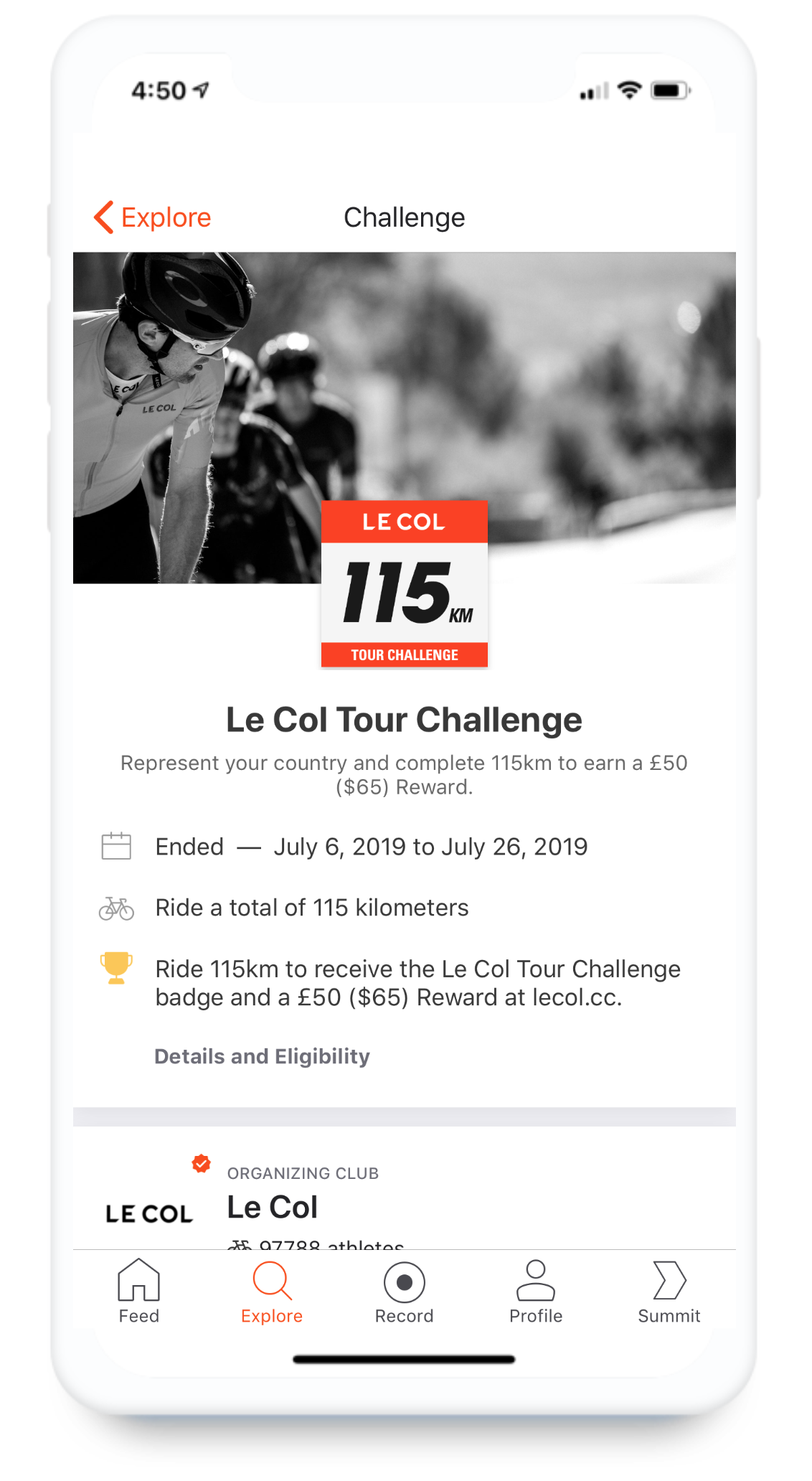 Strava | Business - Le Col Tour Challenge